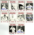 Autographs:Sports Cards, 1986 Fritsch Negro League Baseball Cards Complete Set (119), Signed by 46. This issue is one of the most comprehensive sets...