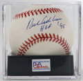 Autographs:Baseballs, Richie Ashburn Single Signed Baseball, PSA NM-MT+ 8.5 The Hall ofFame outfielder for the Whiz Kids adds his induction date...
