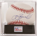 Autographs:Baseballs, Jeff Bagwell Single Signed Baseball PSA NM-MT+ 8.5. This HoustonAstros superstar and potential future HOFer applied his si...