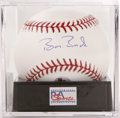 Autographs:Baseballs, Barry Bonds Single Signed Baseball PSA Gem Mint 10. The finest Bonds single on the market, joining together a flawless blue...