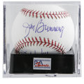 "Autographs:Baseballs, Jim Bunning ""PG 6/21/64"" Single Signed Baseball, PSA Mint 9. JimBunning alludes to his 1964 Father's Day perfect game with..."