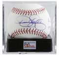 "Autographs:Baseballs, Dennis Eckersley ""1992 AL MVP Cy Young"" Single Signed Baseball, PSAMint 9. Eck possessed the rare quality of being both a ..."
