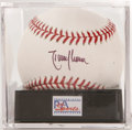 Autographs:Baseballs, Randy Johnson Single Signed Baseball, PSA Mint+ 9.5. The Big Unitoffers up a sweet spot signature on an Official 2001 Worl...