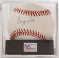 Autographs:Baseballs, George Kell Single Signed Baseball, PSA Mint 9. A gorgeous sweetspot signature on an OAL (Budig) ball from the 10-time All...