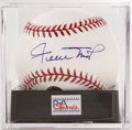 Autographs:Baseballs, Willie Mays Single Signed Baseball, PSA Mint+ 9.5. The Say Hey Kid gives us this OML ball adorned with an excellent sweet s...