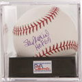 "Autographs:Baseballs, Stan Musial ""HOF 69"" Single Signed Baseball, PSA Mint+ 9.5. Stanthe Man makes note of his induction date below a stunning ..."