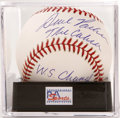 "Autographs:Baseballs, Dave Parker ""The Cobra"" Single Signed Baseball, PSA Mint+ 9.5.Three Gold Gloves, three Silver Sluggers and an MVP award sh..."