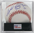 "Autographs:Baseballs, Gaylord Perry ""Cy Young 72"" Single Signed Baseball, PSA Mint 9. Thelast of the great spitballers, Perry makes note of his ..."