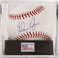 Autographs:Baseballs, Nolan Ryan Single Signed Baseball, PSA Gem Mint 10. The man whoholds a seemingly unbeatable record for career strike outs ...