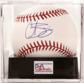 Autographs:Baseballs, Curt Schilling Single Signed Baseball, PSA Gem Mint 10. The hero ofthe 2004 World Series applies his flawless signature to...
