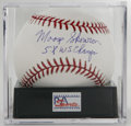 "Autographs:Baseballs, Moose Skowron ""5x WS Champs"" Single Signed Baseball, PSA Mint+ 9.5.OML baseball signed by long-time Yankee first baseman Mo..."