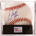 Autographs:Baseballs, Lee Smith Single Signed Baseball, PSA Mint 9. The all-time careersaves leader makes note of his career total along with hi...