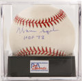 Autographs:Baseballs, Warren Spahn Single Signed Baseball PSA NM-MT 8. ONL (Coleman) ballboasts a fantastic sweet spot signature from this Hall ...