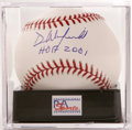 "Autographs:Baseballs, Dave Winfield ""HOF 2001"" Single Signed Baseball, PSA Gem Mint 10.Interesting Winfield fact: he was born the day Bobby Thom..."