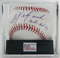 Autographs:Baseballs, Carl Yastrzemski Single Signed Baseball PSA Mint 9.5. The hero ofthe Red Sox' amazing 1967 season makes note of his team a...