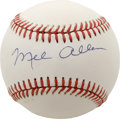 Autographs:Baseballs, Mel Allen Single Signed Baseball. Perhaps the most prominentsportscaster of the mid-twentieth century, Mel Allen's voice b...
