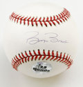 Autographs:Baseballs, Barry Bonds Single Signed Baseball. Having earned himself muchmedia attention as of late when he became the second man to ...