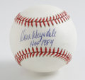 "Autographs:Baseballs, Don Drysdale ""HOF 1984"" Single Signed Baseball. Long-time Dodger and strike partner with legendary HOFer Koufax, Don Drysda..."
