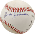 Autographs:Baseballs, Judy Johnson Single Signed Baseball. Although Negro League legendJudy Johnson retired from playing before the majors were ...
