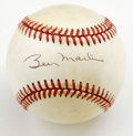 Autographs:Baseballs, Billy Martin Single Signed Baseball. Nice example of the toughBilly Martin single, applied to the sweet spot of the OAL (B...