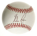 Autographs:Baseballs, Nolan Ryan Single Signed Baseball. With 27 seasons on the moundunder his belt, the hard-throwing Texan set the precedent f...