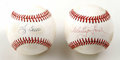 Autographs:Baseballs, Whitey Ford and Yogi Berra Single Signed Baseballs Lot of 2. Thisfantastic New York Yankee pitcher/catcher combined for so...