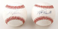 Autographs:Baseballs, Mike Schmidt and Jose Canseco Single Signed Baseballs Lot of 2.Excellent pair of singles is made available here, one a cle...(Total: 2 Items)