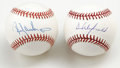 Autographs:Baseballs, Rickey Henderson and Dave Winfield Single Signed Baseballs Lot of2. Each of this pair of official baseballs remains clean ...(Total: 2 Items)