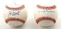 Autographs:Baseballs, Star Pitchers Signed Baseballs Lot of 2. The focus of the signedbaseballs offered in this lot is star pitchers, with one b...(Total: 2 Items)