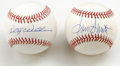 Autographs:Baseballs, Billy Williams and Ron Santo Single Signed Baseballs Lot of 2. Fromtwo of the North Side of Chicago's favorite sons we off... (Total:2 Items)