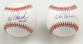 Autographs:Baseballs, Lou Brock and Bob Gibson Single Signed Baseballs Lot of 2. Thesetwo HOF St. Louis Cardinals teammates have each applied a ...(Total: 2 Items)