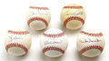 Autographs:Baseballs, Baseball Hall of Famers Single Signed Baseballs Lot of 5. Here weoffer a group of five single-signed baseballs, each beari...(Total: 5 Items)