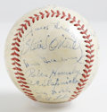 Autographs:Baseballs, 1940s Old Timers Day Multi-Signed Baseball. From a ClevelandIndians Old Timers Day dating from the 1940s we present this l...