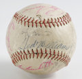 Autographs:Baseballs, 1950s-'60s Baseball Stars Multi-Signed Baseball. Collected on theleather of the provided baseball are the signatures of si...