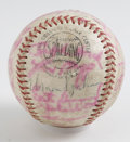 Autographs:Baseballs, 1950s-'60s Baseball Stars Multi-Signed Baseball. Yet anothercollection of stars from the 1950s-'60s, this time collecting ...