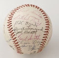 Autographs:Baseballs, 1981 Negro League Reunion Multi-Signed Baseball. The Wilson ball offered here comes from a 1981 Negro League Players Reunio...