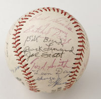 1981 Negro League Reunion Multi-Signed Baseball. The Wilson ball offered here comes from a 1981 Negro League Players Reu...