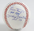 Autographs:Baseballs, Mantle, Mays, and Snider Multi-Signed HOF Inscription Baseball. TheNew York City centerfield trio of Mantle, Mays, and Sni...