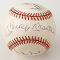 Autographs:Baseballs, Willie Mays, Mickey Mantle and Duke Snider Multi-Signed Baseball.The hallowed triumvirate of New York centerfielders is re...
