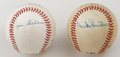 Autographs:Baseballs, Baseball Stars Multi-Signed Baseballs Lot of 2. Here we offer anice pair of multi-signed baseballs, each featuring stars f...(Total: 2 Items)