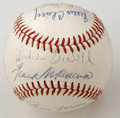 Autographs:Baseballs, 1944 St. Louis Browns Team Signed Baseball. The AL Champion 1944St. Louis Browns went on to meet the crosstown rival Cardi...
