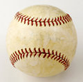 Autographs:Baseballs, 1951 New York Yankees Team Baseball Signed by 8. While most of thesignatures on this shellacked Official Pioneer League ba...