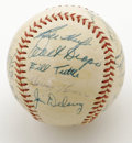 Autographs:Baseballs, 1954 Detroit Tigers Team Signed Baseball. The young 1954 DetroitTigers team featured a fair amount of youthful talent, inc...