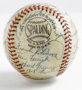 Autographs:Baseballs, 1957 Cincinnati Reds Team Signed Baseball. Thirty plus signaturesreside on the leather of the ONL (Giles) baseball all rat...