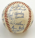 Autographs:Baseballs, 1960 Detroit Tigers Team Signed Baseball. Though the offered OAL(Cronin) baseball has suffered some wear, all the signatur...