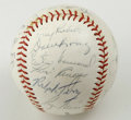 Autographs:Baseballs, 1960 New York Yankees Team Signed Baseball. Twenty-three signaturesfrom the AL Champion 1960 New York Yankees appear on th...