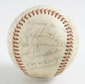 Autographs:Baseballs, 1962 Houston Colt .45s Team Signed Baseball. It was 1962 and thefirst year that the NL expansion Houston Colt .45s would t...