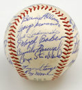 Autographs:Baseballs, 1962 Minnesota Twins Team Signed Baseball. Nearly every inch ofusable space of the offered OAL (Cronin) ball has been util...