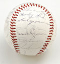 Autographs:Baseballs, 1965 Baltimore Orioles Team Signed Baseball. Official AmericanLeague (Cronin) baseball contains the signatures of 27 membe...