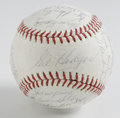 Autographs:Baseballs, 1965 Washington Senators Team Signed Baseball. Here we offer amarvelously preserved collection of thirty signatures, all f...
